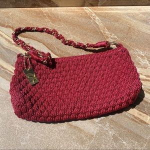 VTG Lima Crochet Bag Cranberry Wine Burgundy